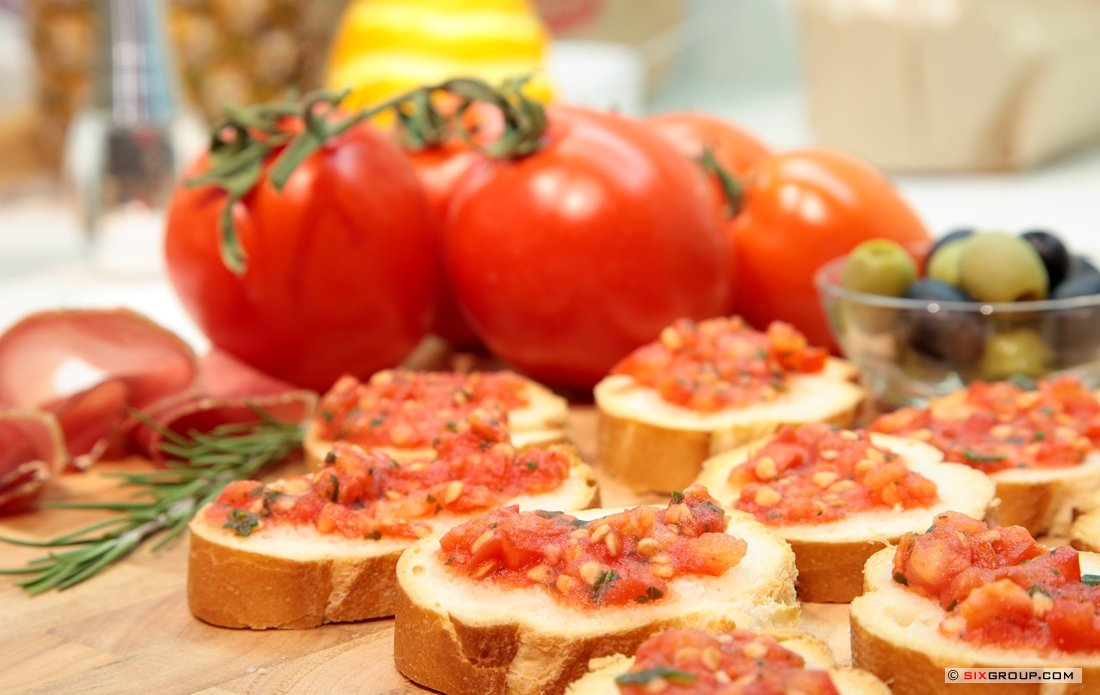 snacks bruschetta mit tomaten koch und backrezepte forum bewertung und. Black Bedroom Furniture Sets. Home Design Ideas