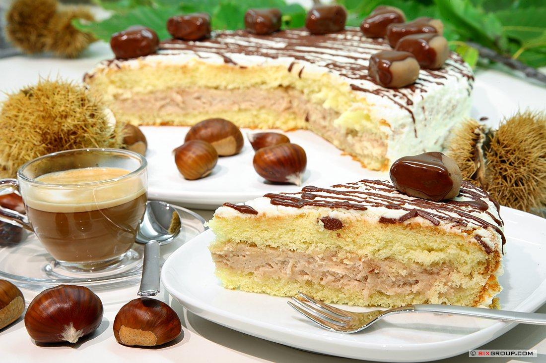 Kuchen Kastanien Creme Torte Www Backecke Com Koch Und